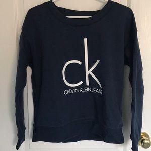 Navy Calvin Klein Sweatshirt